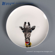 Tier-Zeichnung Reizende Art-keramische Teller-Platte, Knochen-China-Tischgeschirr-Großverkauf von China