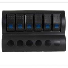 Boot 6 Gang Rocker Leistungsschalter Panel mit LED-Anzeige