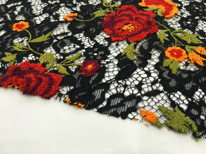 Nylon Cotton Lace Embroidery Fabric