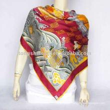ladies silk shawl for autumn promotion