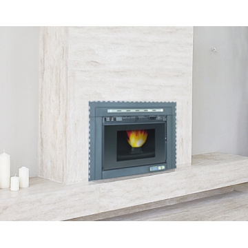 Indoor Using Insert Type Wood Pellet Stove with Remote Control