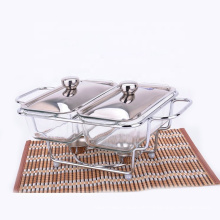 Billiger Preis Buffet serviert Glas Chafing Dish Hot Food Warmer