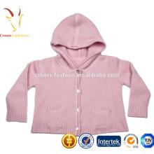 bebé niños Cashmere Sweater niño / niña sudadera con capucha géneros de punto