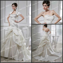 Chritmas Holiday Sale Strapless A-line Unique Style Jacket 2013 Bridal Dresses Real Picture