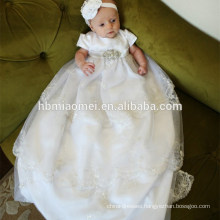 Exquisite Europe Style White Lace Christening blessing Princess Birthday Girls Baptism Dresses for Pageant