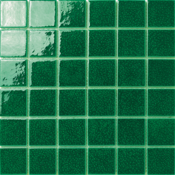 Fresh Green Glaze Crack Porcelain Mosaic Tile