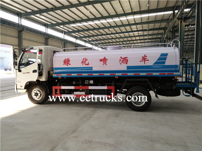 6 CBM Sprinkling Water Tank Trucks