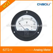 2014 горячий 62T2-V круглый аналоговый панельный вольтметр