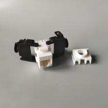 cat6 180 degree unshielded keystone jack dual type