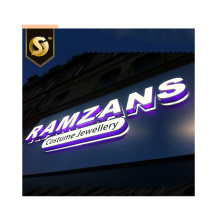 Multi Color AcrylicLED Side Lit Letters withAcp clading