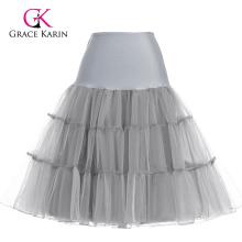 Grace Karin Grey Tutu Petticoat Underskirt Crinoline Skirt For Wedding Vintage Dress CL008922-10