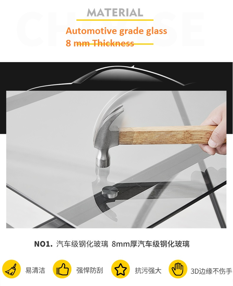 automotive glass for table