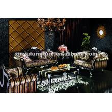 Sala de estar sofás clássicos de madeira clássica A80820
