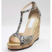 Fashion High Heel Black Women High Sandals (HCY02-1687)
