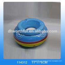 Cenicero personalizado de cerámica, cenicero de cerámica con logo para la venta al por mayor