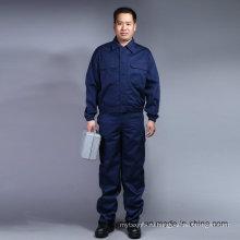 Дешевые длинным рукавом высокое качество безопасность 100% хлопок костюм спецодежды (BLY2003)