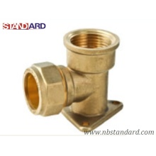 Brass Wall Plated for Copper Pipe/Copper Fitting with Female Thread