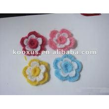 Новый дизайн ручной вязания крючком цветок для оголовья, одежды, обуви, сумки аксессуары
