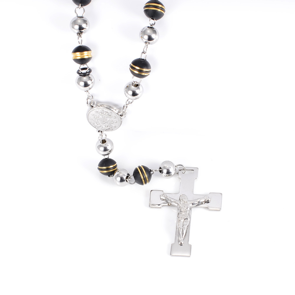 Fashion Jewelry 316L Stainless Steel Rosary Necklace