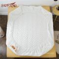 Matelassé motif coton matelassé imperméable anti-versets profonds de poche protège-matelas