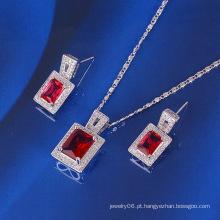 Xuping moda luxo jóias quadrados com ródio chapeado (61102)