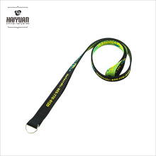 Simple Custom 100% Polyester Woven Lanyard with Only a Metal Split Ring Accessory