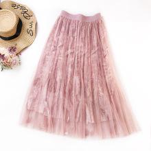 Women Fashion Loose Princess Polyester Velvet Skirts