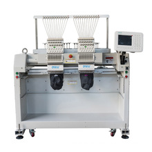 QS-1202CP double Head Computerized Embroidery Machine Dahao Computer for T shirt logo label hat Embroidery Machine