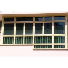 Max Konfigurationen gehärtetes Glas Aluminium Schiebefenster Preise