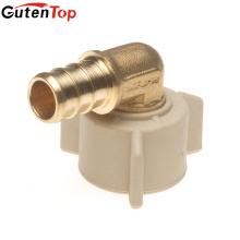 GutenTop haute qualité sans plomb en laiton Barb Insert 1 / 2inch femelle coude pivotant Thread avec écrou en plastique