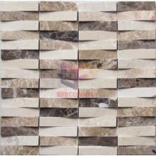 Wave Shape Marble Mosaic (CFS891)