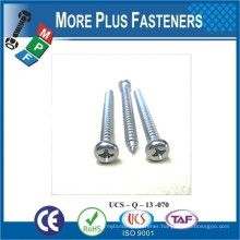 Made in Taiwan Button Head Phil Recess Castellated Hex Serrated Washer Head Double Threaded Round Head Self Tapping Screw