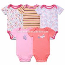 Kids Stripe Summer Cotton Romper Wholesale Baby Girl Plain Red Romper Girl Knitted Rompers Patterns