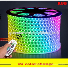 High voltage 220V flexible SMD5050 RGB Led Strip with remote control