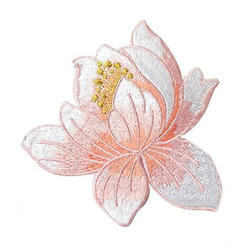 Lotus Applique Clothing Embroidery Patch