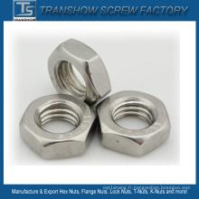 Écrou hexagonal à filetage gauche en acier inoxydable M10