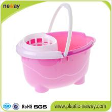 Squeeze Plastic Mop Bucket with Wringer