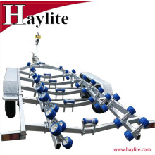 Best-selling Tandem Steel Boat Trailer Fully Hot Dip Galvanized with leaf Spring