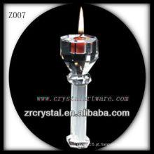 Suporte de vela de cristal popular Z007