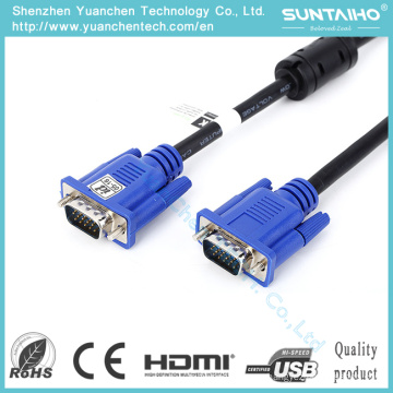 High Quality OEM 15pin Male to Male VGA Cable