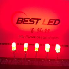 Indicador LED de diodo luminoso LED de rectángulo rojo 2 * 3 * 4