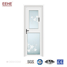 aluminum frosted tempered glass bathroom door