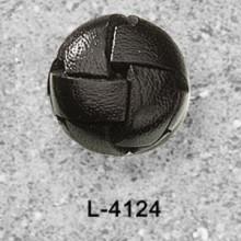 Botões de couro preto de futebol para revestimentos