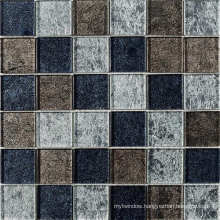 Crystal and Metal Mixed Stainless Steel Glass Mosaic Tile