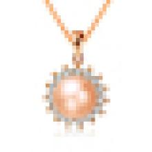 Collier pendentif en forme de soleil en forme de soleil avec perle