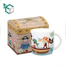 Креативный дизайн сокровище коробчатой формы красочные печать кружка в подарочной коробке с вставкой