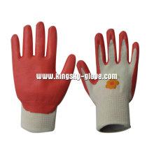 Roter Nitril Coated Open Back Garden Handschuh-5028