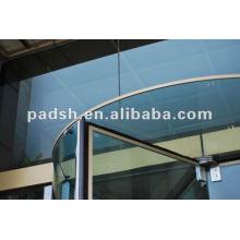 Puerta giratoria transparente