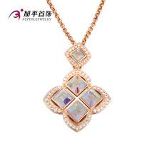 Xuping Fashion Luxury 18k Gold-Plated Square CZ colgante de cristal (32581)