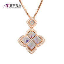 Xuping Fashion luxe plaqué or 18 carats plaqué or cristal CZ (32581)
